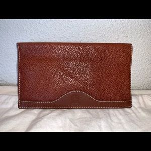 Authentic Christian Dior checkbook long wallet